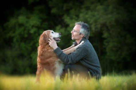 complicite homme chien